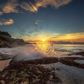 Sunset of Honor by Bertoni Siswanto - Landscapes Waterscapes ( sunset, beach, seascape, waterscapes, landscapes,  )