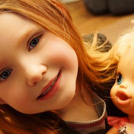 Dolly & Me by Cheryl Korotky - Babies & Children Child Portraits