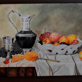 by Sanaz Shahraki - Painting All Painting ( sanaz shahraki, fruits )