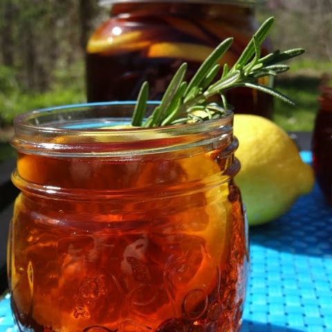Sugar Free Southern Sweet Tea with Rosemary and Lemon