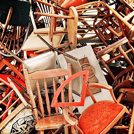 Chairs by Wayne Harlech-Jones - Artistic Objects Furniture ( sculpture, chair, chairs, art, stack,  )