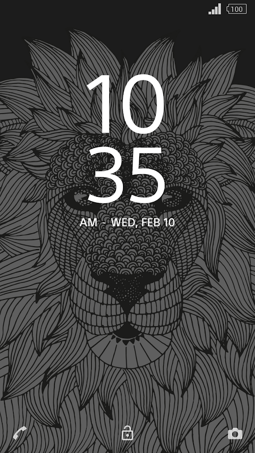 XPERIA™ Lion Theme Screenshot 2