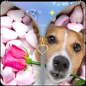 Puppy Rose Zipper lockscreen APK for Bluestacks
