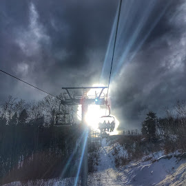 Starlight by Alin Miu - Instagram & Mobile iPhone ( clouds, skiing, mountains, winter )