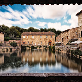 Bagno Vignoni by Raffaello Terreni - City,  Street & Park  Historic Districts ( water, frame, traveling, tuscany, lovely, long exposure, quiet, travel, italy, travel photography, travel locations )