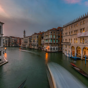 Swept Away by Rana Jabeen - City,  Street & Park  Vistas ( water, colors, sunset, venice, architecture, travel )