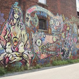 Graffitti by Monroe Phillips - City,  Street & Park  Street Scenes