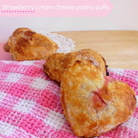 Strawberry Cream Cheese Pastry Puffs