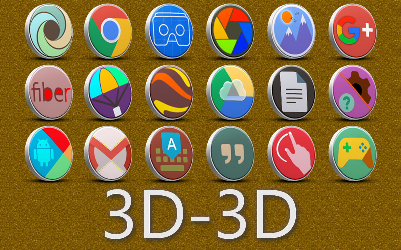 3D-3D - icon pack Screenshot 6