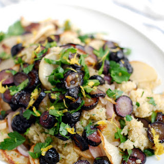 Roasted Black Radish and Grape Quinoa