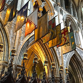 St. Patrick's, Dublin by Timothy Carney - Buildings & Architecture Places of Worship ( flags, colors, dublin, cathedral, st. patrick's )