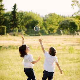 Happiness by Klaudia Klu - Babies & Children Children Candids ( love, bubble, freedom, happy, kids )