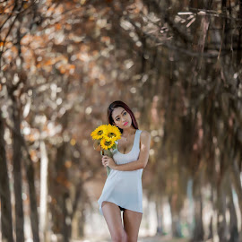 I'm on my way ........ by Itnay Eric - People Portraits of Women ( hong kong, potrait, model, lost, park, photo, pretty, bokeh, photography, potraiture, human, love, sexy, lips, lovely, flowers, hair )