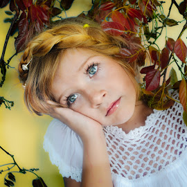 Persia yellow by Shannon Kirk - Babies & Children Child Portraits ( child, girl, yellow, portrait )