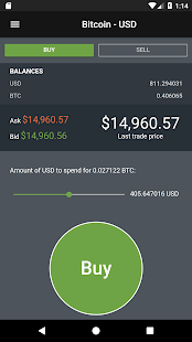 FlashTrade - Bitcoin, BCH, ETH, LTC on GDAX screenshot for Android