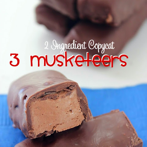 2 Ingredient Copycat 3 Musketeers