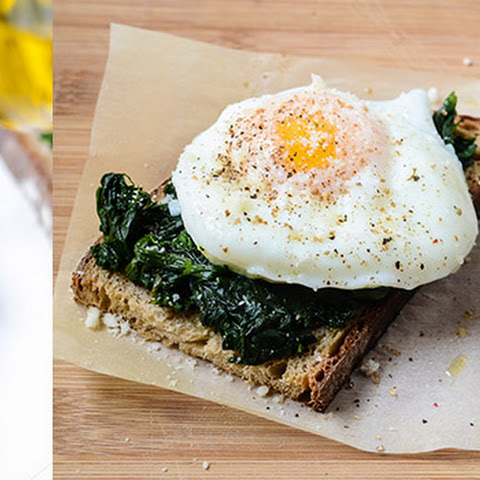 Toast with Spinach and Egg