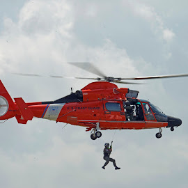 Coast Guard Demo by Bill Telkamp - Transportation Helicopters ( helicopter, coast guard, rescue, airshow )