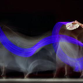 Fan Dance by Sofian Anwar - People Fine Art ( moves, gesture, fan, dance )