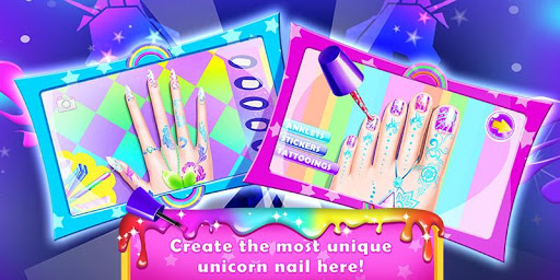 Rainbow Unicorn Nail Beauty Artist Salon For PC