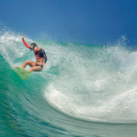 surf by Indrawaty Arifin - Sports & Fitness Surfing ( woman, wave, sea, surf )