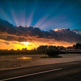 Hacienda by Branko Meic-Sidic - Landscapes Sunsets & Sunrises ( clouds, magic, sky, colourful, hdr, hacienda, sunset, beautiful, dramatic, croatia, road, vodice, . )
