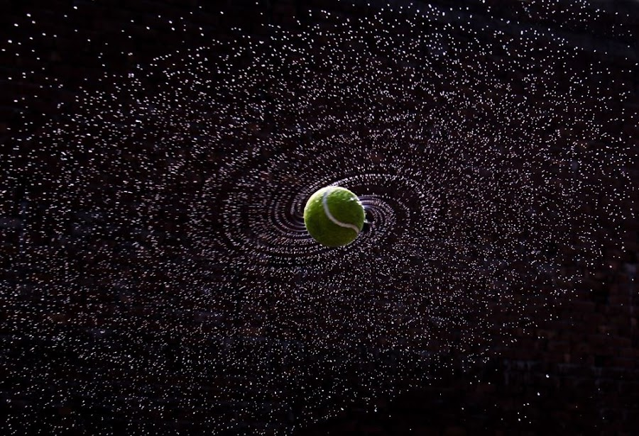 Tennis Ball Galaxy by Nishant Gupta - Sports & Fitness Tennis ( tennis ball galaxy water )