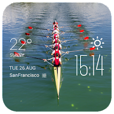 rowing weather widget/clock
