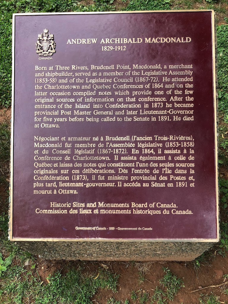 ANDREW ARCHIBALD MACDONALD1829-1912Born at Three Rivers, Brudenell Point, Macdonald, a merchant and shipbuilder, served as a member of the Legislative Assembly (1853-58) and of the Legislative ...