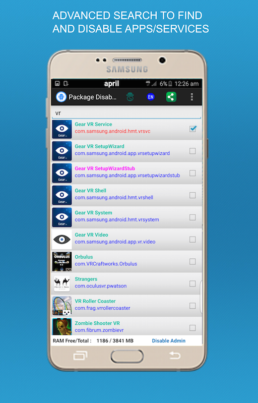 Package Disabler Pro (Samsung) Screenshot 2