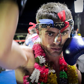 Portrait of a Muay Thai Fighter by Kim Johnson - Sports & Fitness Boxing ( fight, boxer, muay thai, action, sport, boxing )