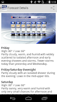 Screenshot of WRAL Weather