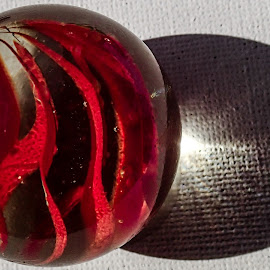 Red Marble by Pierre Tessier - Artistic Objects Glass ( marble fun,  )