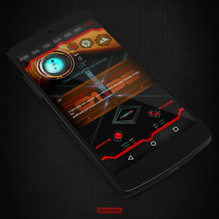 KLWP 2 Themes Futuristic Screenshot 5