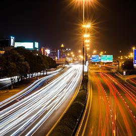 Rush Hour by Sumesh Makhija - Abstract Light Painting ( speed, night, long exposure )