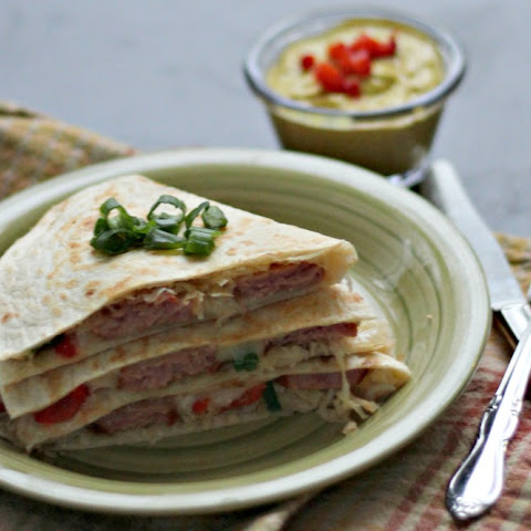 Sausage and Sauerkraut Quesadilla