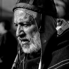 The old archer  by Franco Salis - Black & White Portraits & People