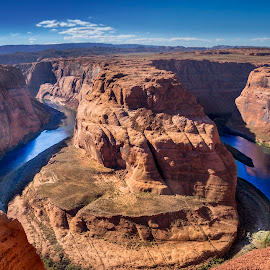 Horseshoe Bend by Alessandro Calzolaro - Landscapes Caves & Formations ( nature, arizona, bend, colorado, valley, landscape, rocks, river, horseshoe )