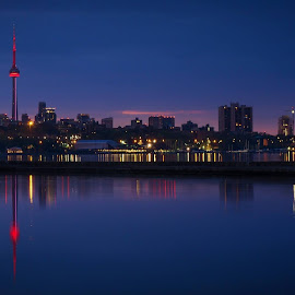 Downtown Toronto at Dawn by Tom Baker - City,  Street & Park  Skylines