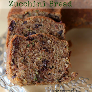 Chocolate Zucchini Bread with Coconut Oil