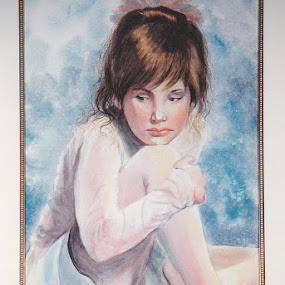 Rejected by Irma Mason - Painting All Painting ( child, girl, sad, balerina, beauty, kids, painting, dancer, portrait )