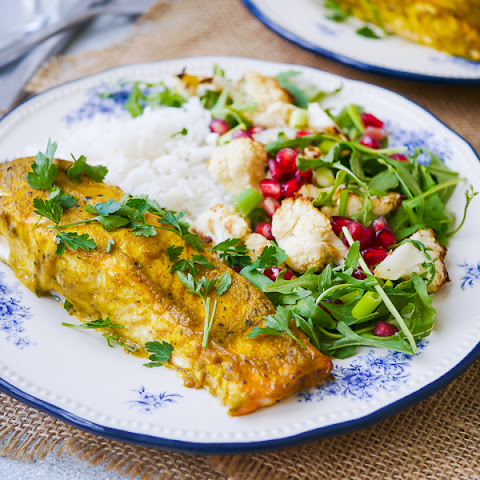 Indian Spiced Baked Salmon Fillet