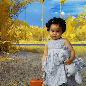 Infrared by Fairuzee Ramlee - Babies & Children Children Candids ( potrait, wonderworld, infrared, yellow )