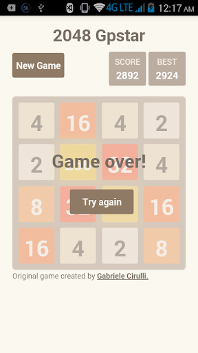 2048 Gpstar - screenshot