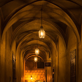 Passageway by Martin Krejčí - Buildings & Architecture Public & Historical ( passageway night public castle chateau )
