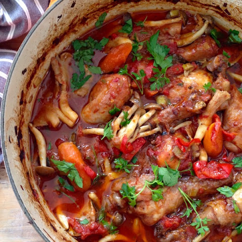 Italian Chicken Cacciatore Recipe ( Hunter Style Chicken )