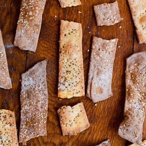 Cornmeal, Parmesan, and Poppy Seed Crackers