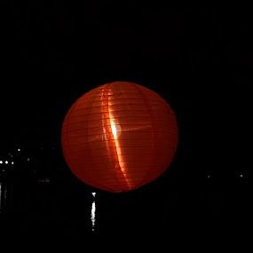 Lantern at night by Rajashri Joshi - Abstract Fire & Fireworks ( lantern, red, night photography, night, light )