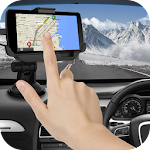 GPS Map Direction: Navigation Route Guide Icon