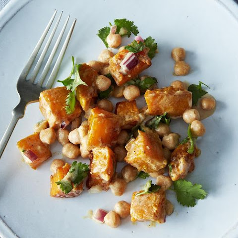 Warm Butternut Squash and Chickpea Salad with Lemon Tahini Dressing ...